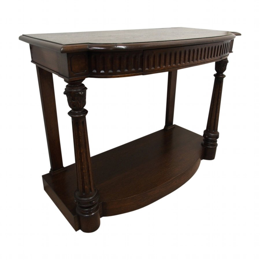Early Victorian Oak Hall Table