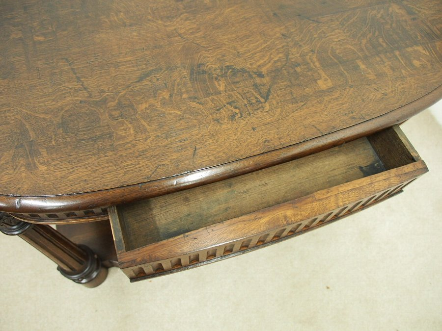 Antique Early Victorian Oak Hall Table