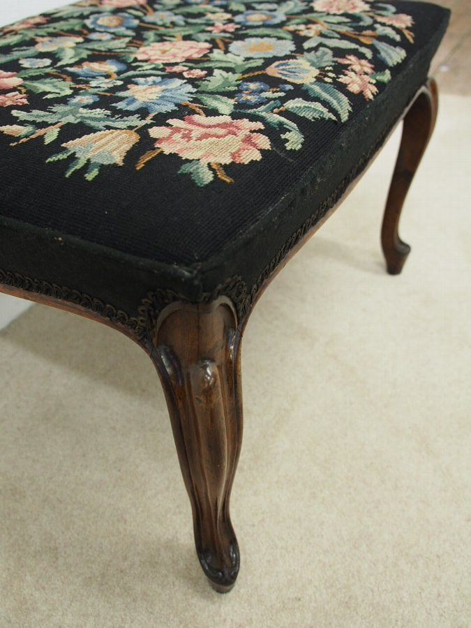 Antique Victorian Rosewood Stool
