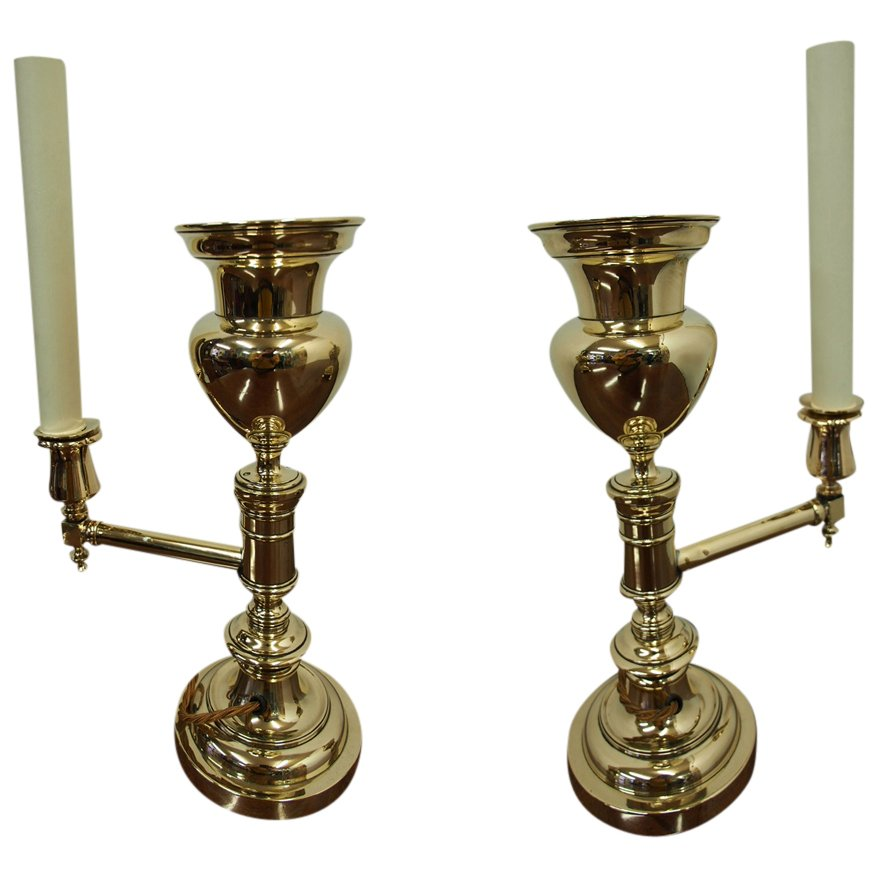 Pair of George IV Colza Lamps