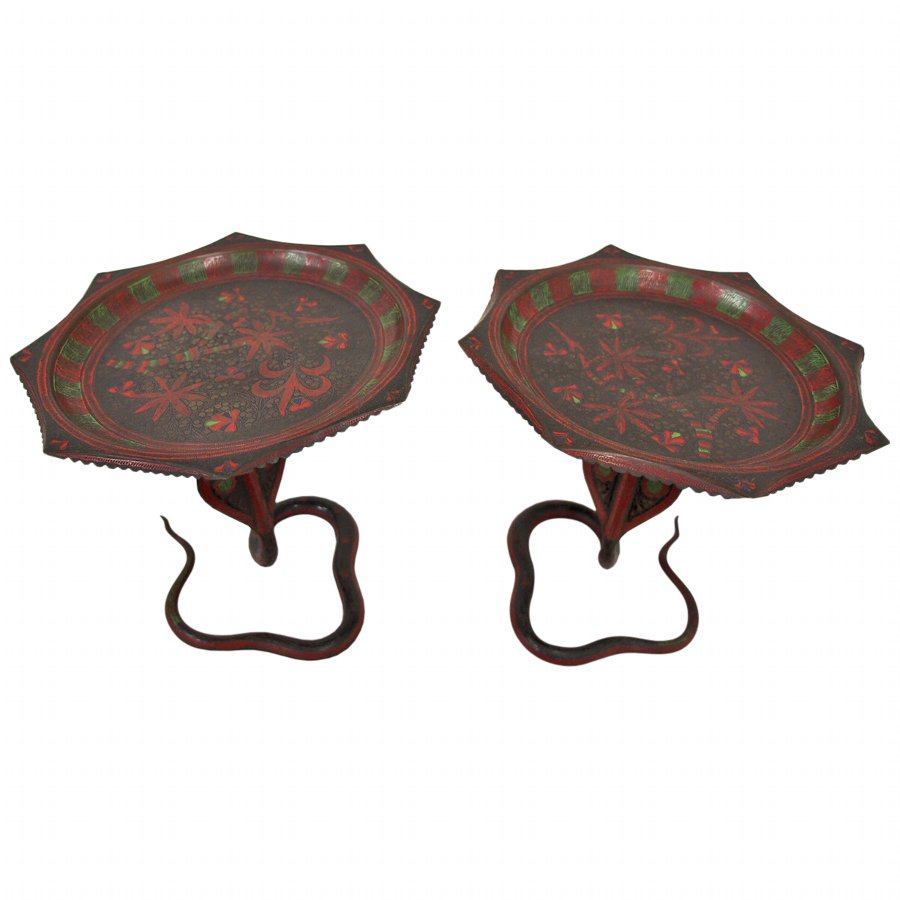 Pair of Indian Tazzas