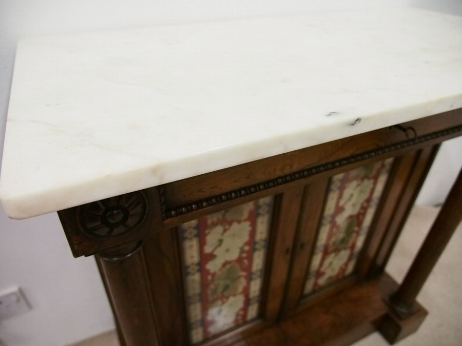 Antique Regency Marble Topped Cabinet