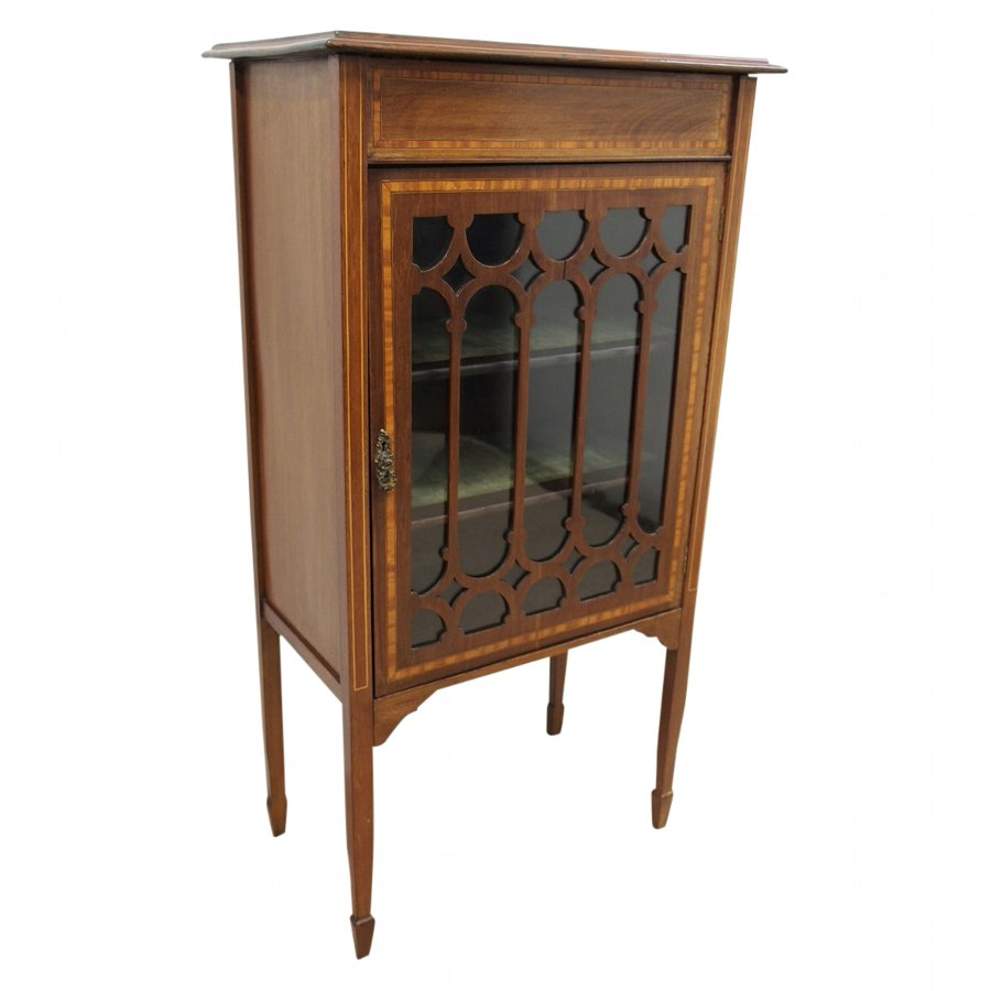 Sheraton Style Inlaid Music Cabinet or Small Cabinet