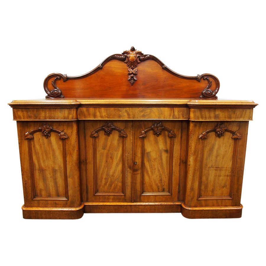 Victorian Four Door Mahogany Chiffonier or Sideboard