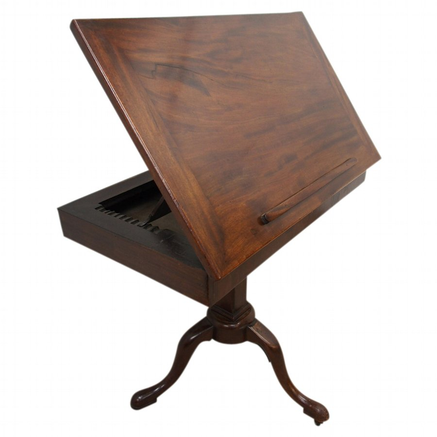 George II Mahogany Tripod Architects Table