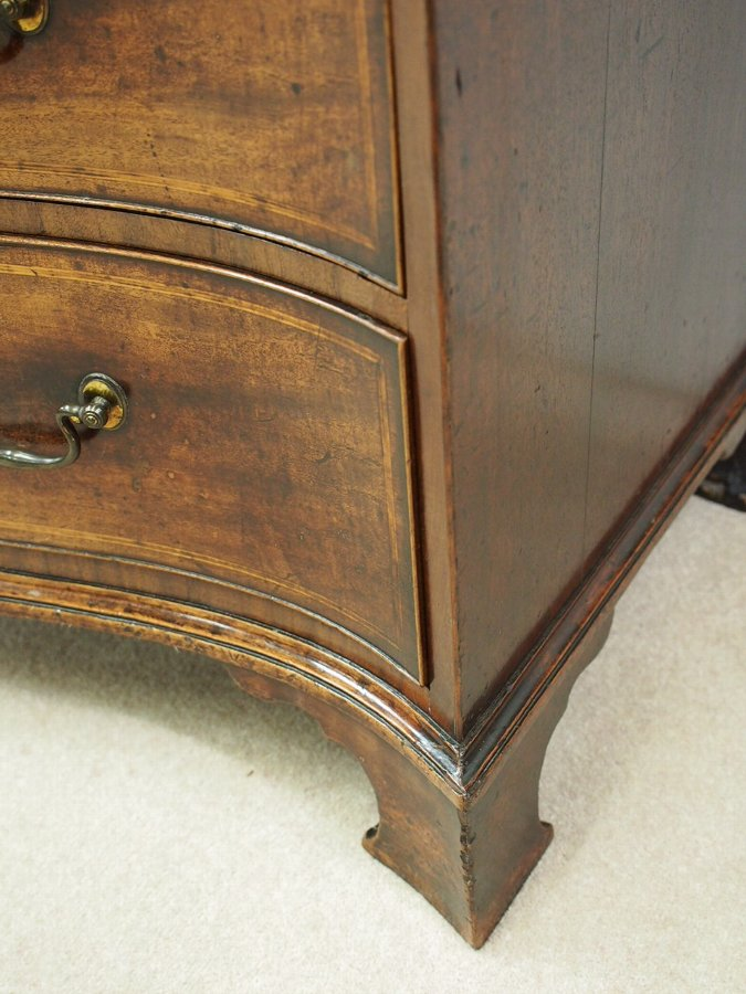 Antique George III Mahogany Serpentine Chest of Drawers
