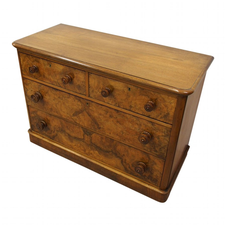 Neat Victorian Walnut Chest of Drawers