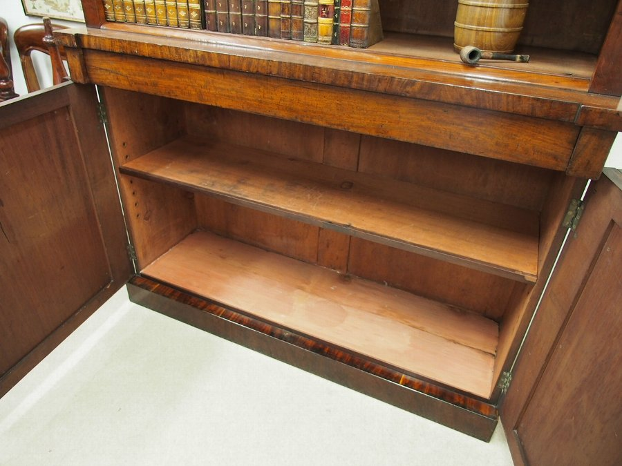 Antique Victorian Mahogany Open Library Bookcase