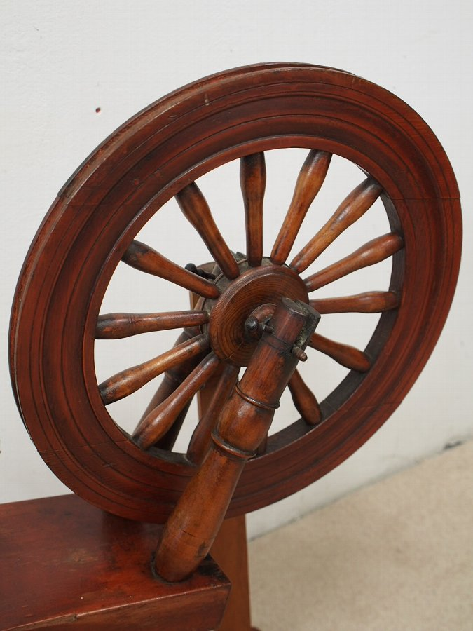 Antique Unusual Victorian Spinning Wheel