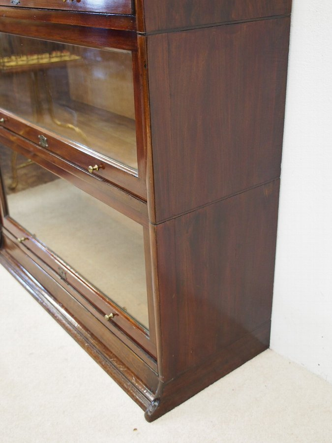 Antique Mahogany Sectional Bookcase by Lebus