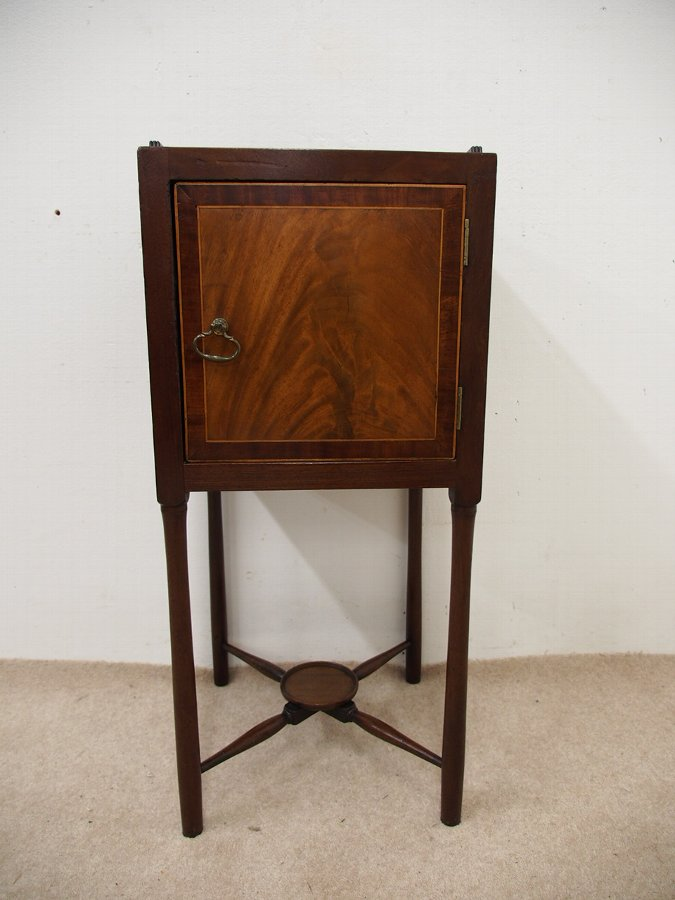 Antique George III Mahogany Bedside Locker