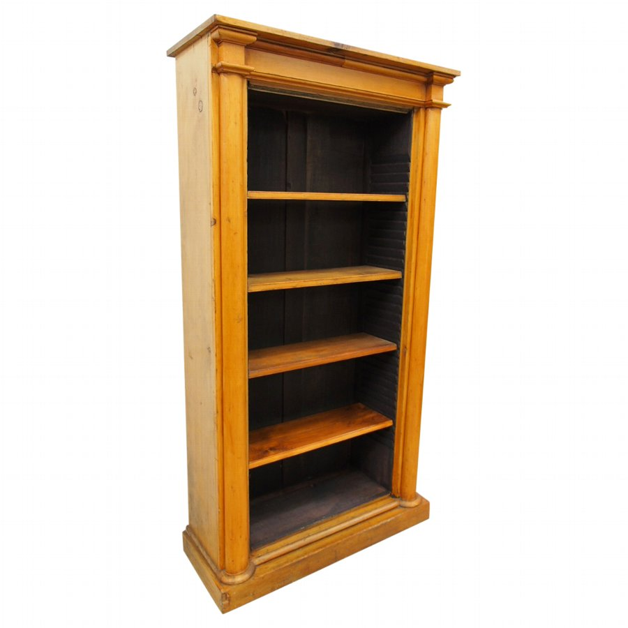 Empire Style Tall Pine Open Bookcase