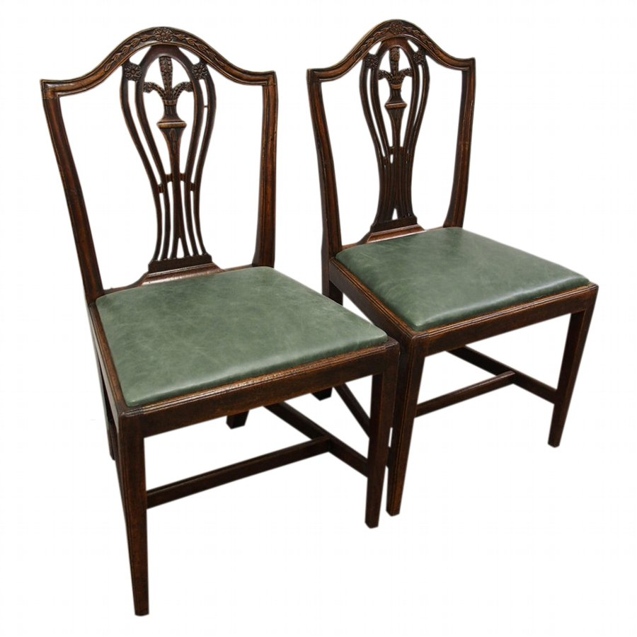 Pair of Hepplewhite Style Dining Chairs
