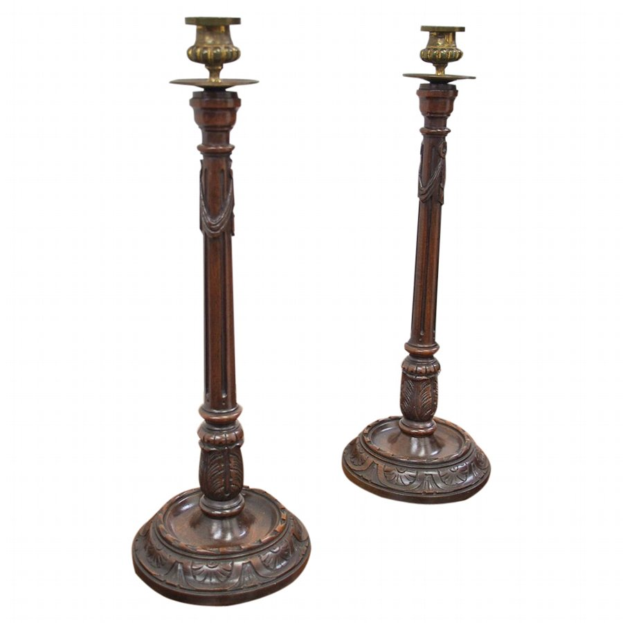 Pair of George III Style Candlesticks