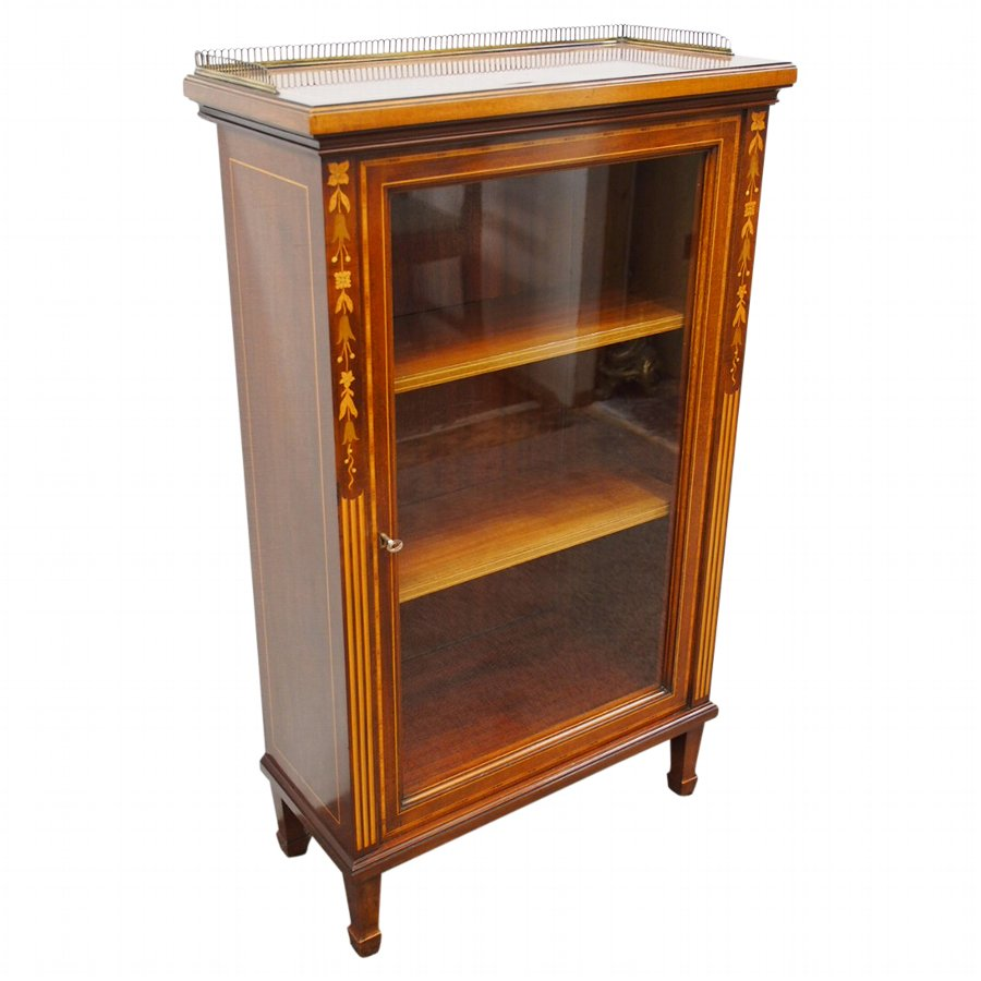 Sheraton Style Inlaid Mahogany Bookcase by Morison & Co, Edinburgh