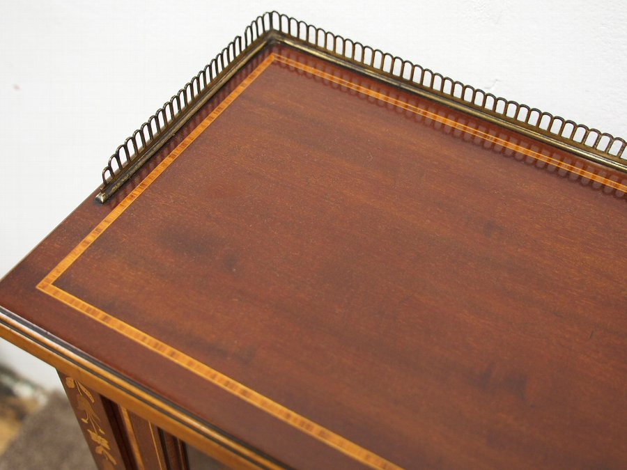 Antique  Sheraton Style Inlaid Mahogany Bookcase by Morison & Co, Edinburgh