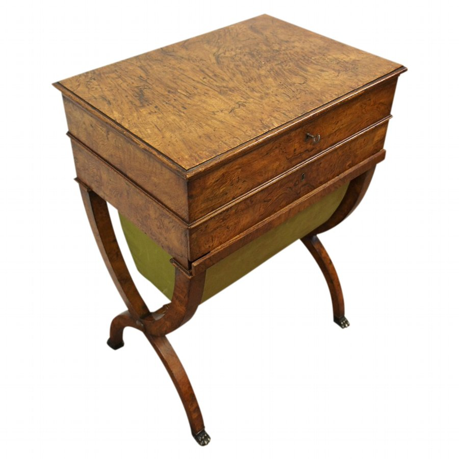 Regency Burr Elm Work Table