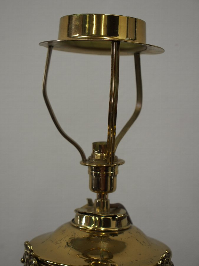 Antique Victorian Brass Oil Lamp