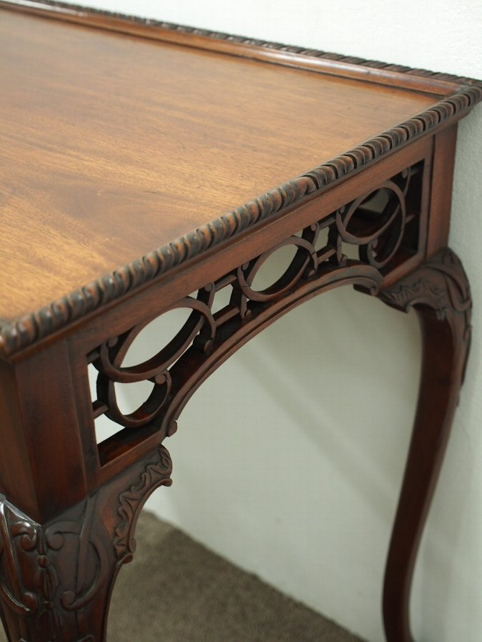 Antique Chippendale Style Mahogany Side Table