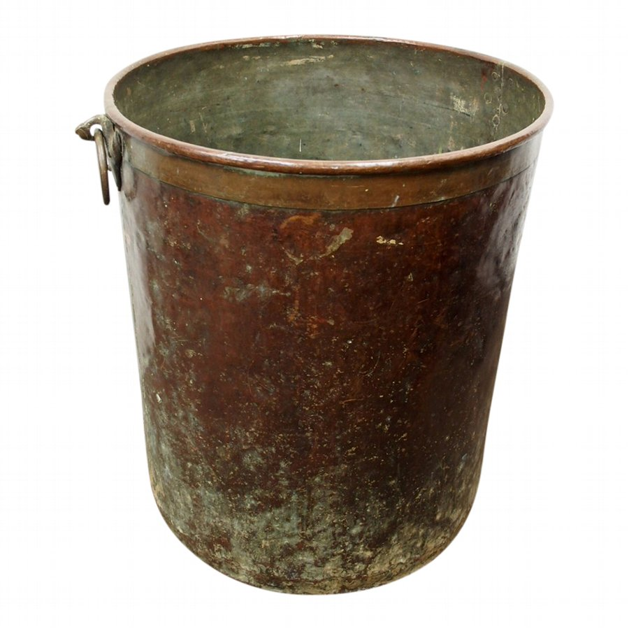 Large and Unusual Copper and Brass Barrel