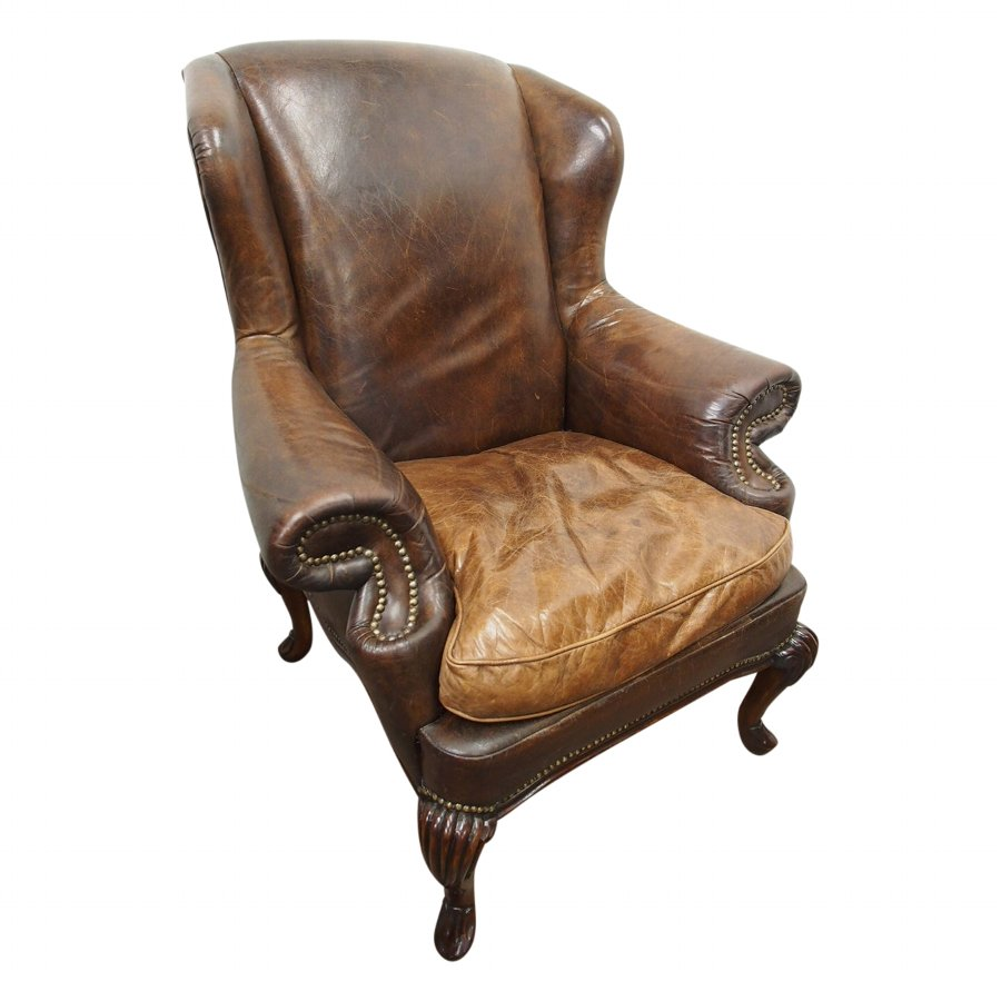 George III Style Wing Armchair