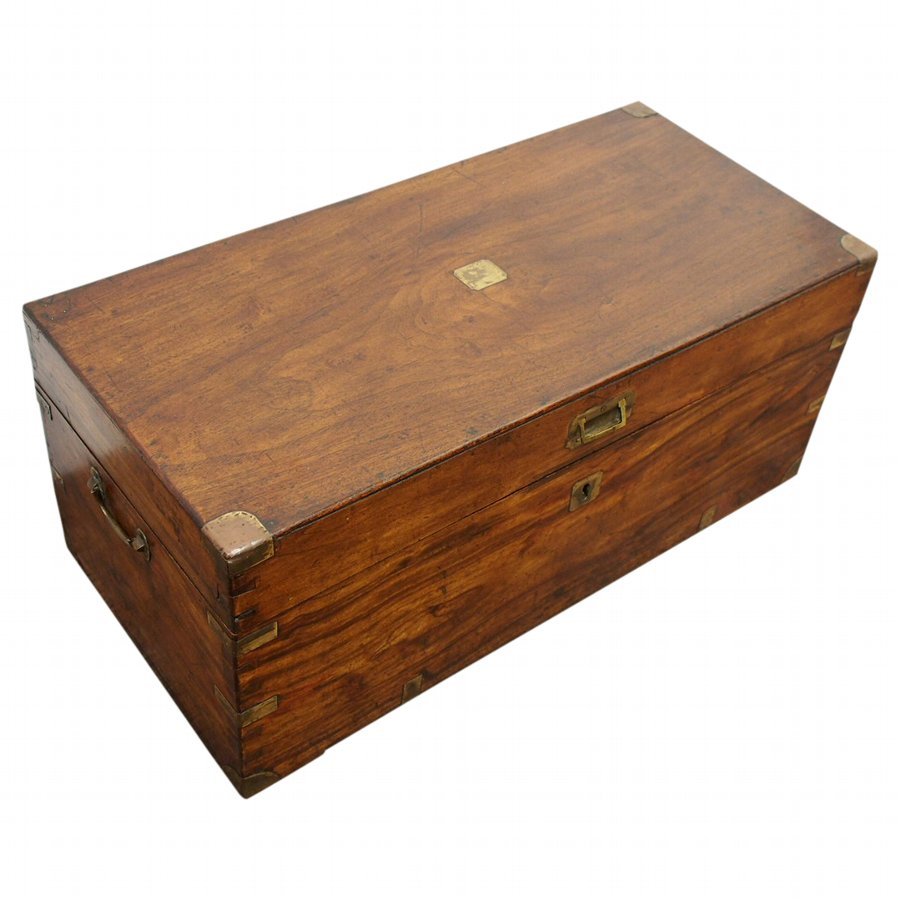 Brass Bound Camphor Wood Trunk