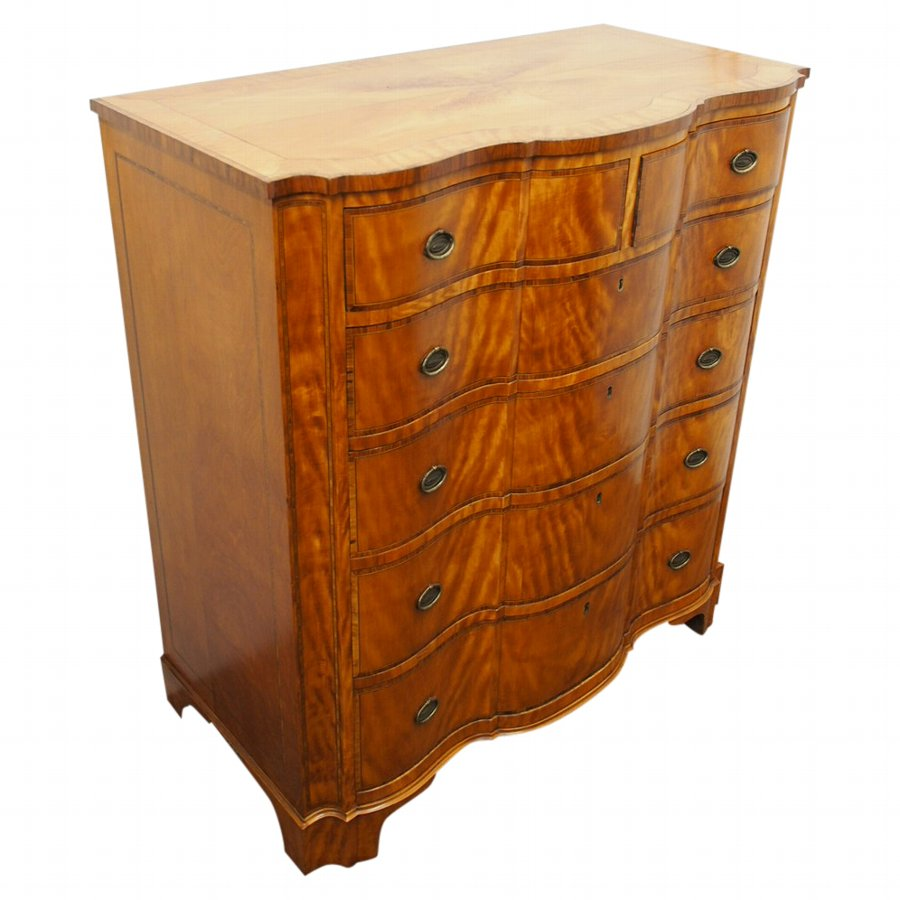 George III Style Serpentine Chest