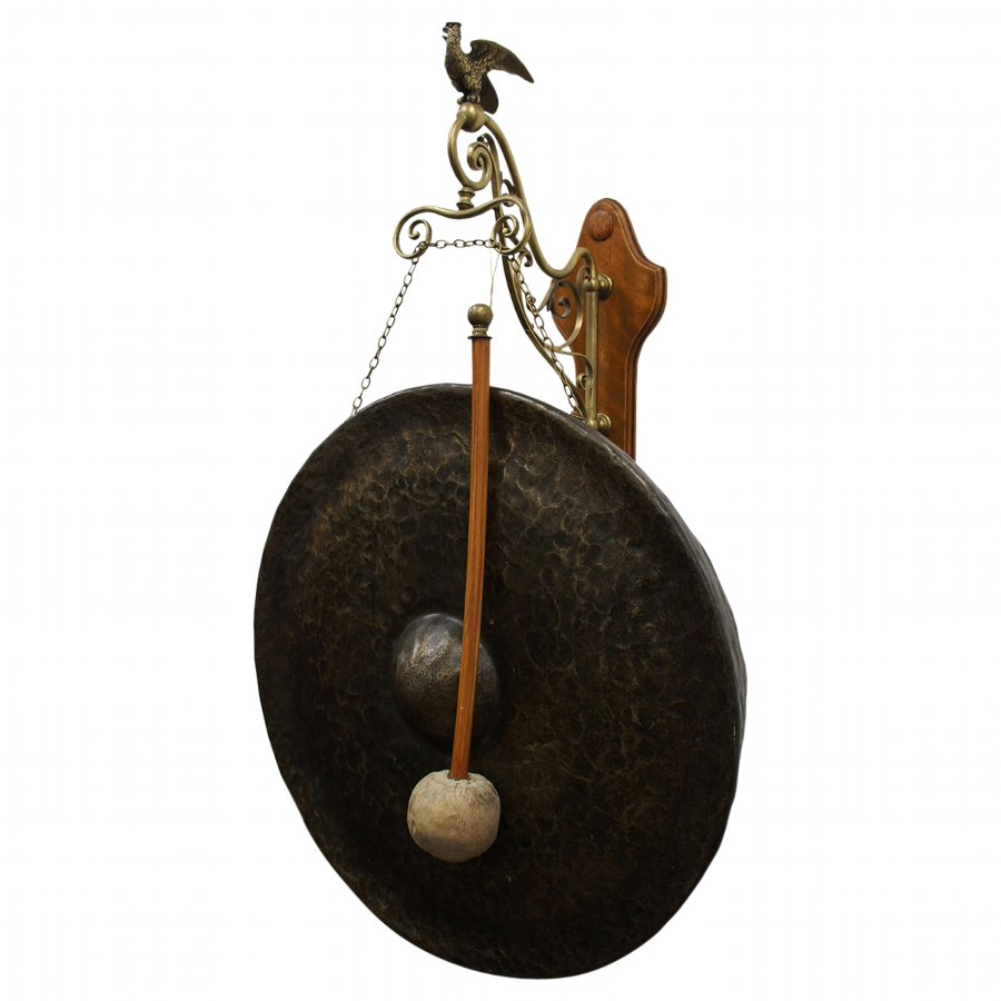 Dinner Gong with Brass Bird Frame