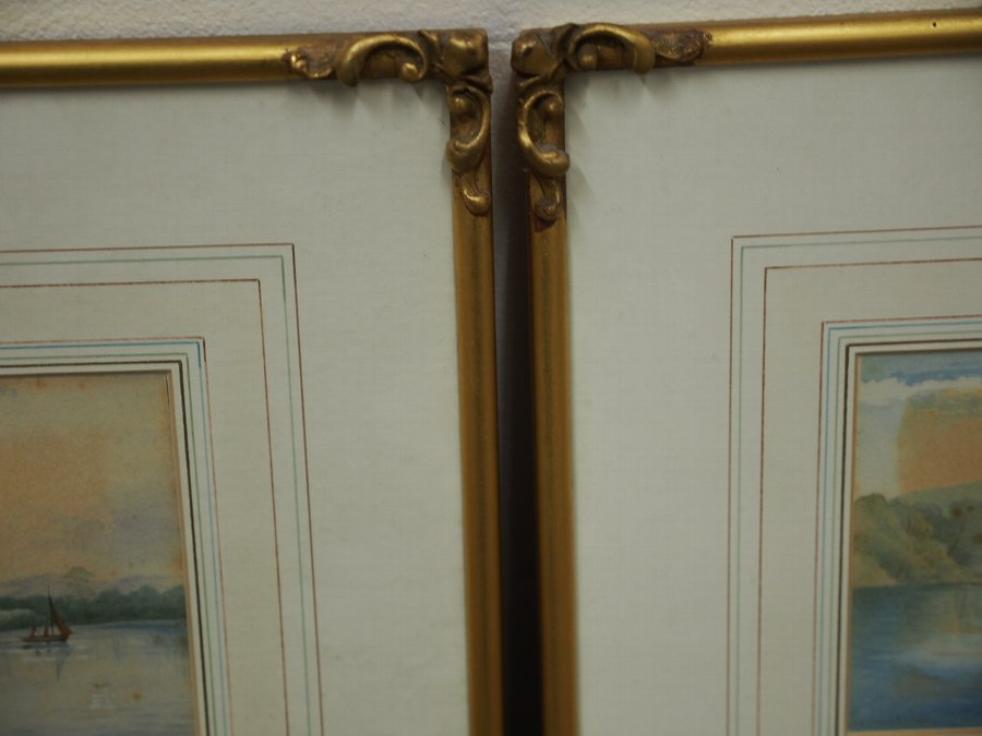 Antique Pair of Late Victorian Watercolours by W. Johnstone