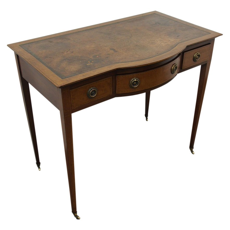 Sheraton Style Inlaid Ladies Writing Table