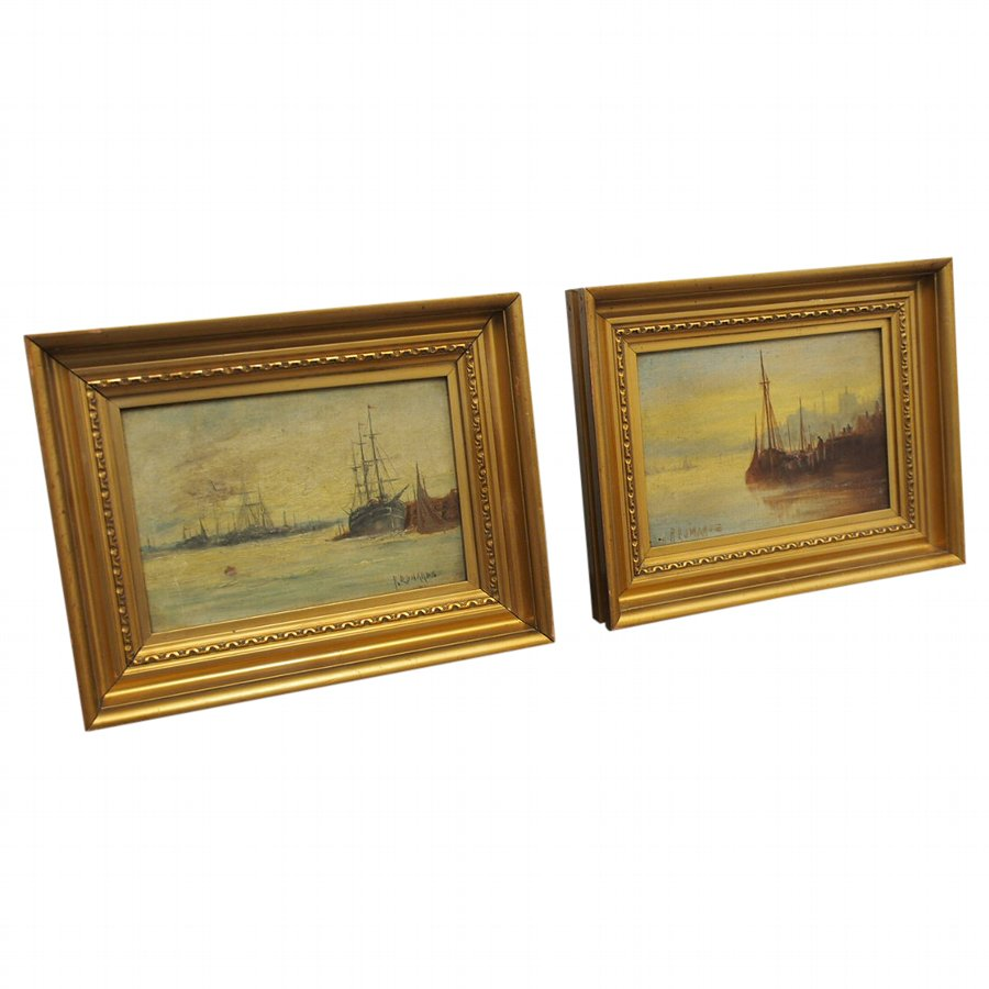 Neat Pair of Oil on Canvas by R. Edwards`````````