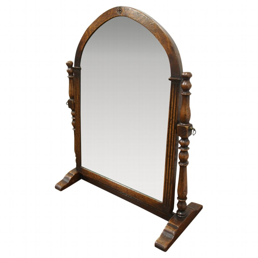 Gothic Style Oak Dressing Mirror