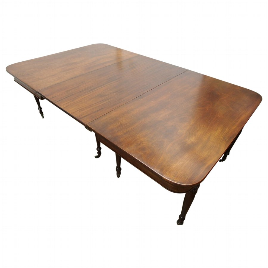 Georgian Mahogany Dining Table with 1 Leaf