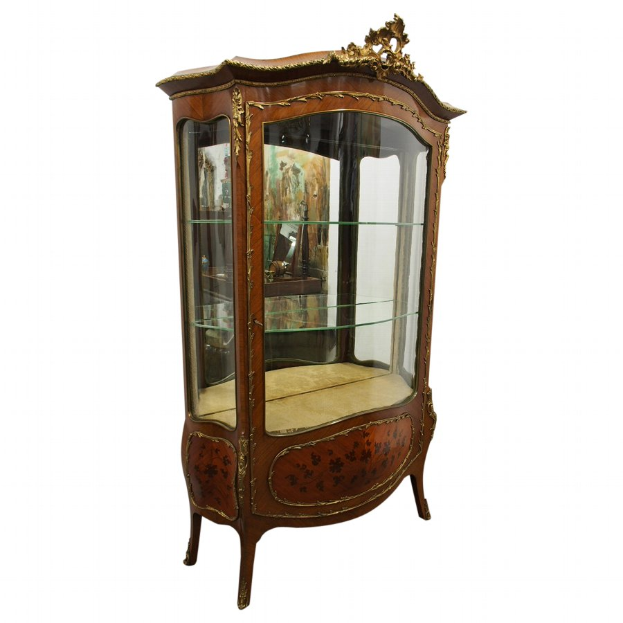 French Kingwood Bombe Front Vitrine