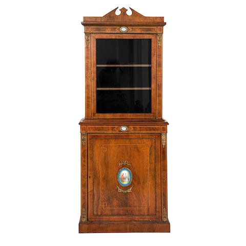 Victorian Walnut Display Cabinet