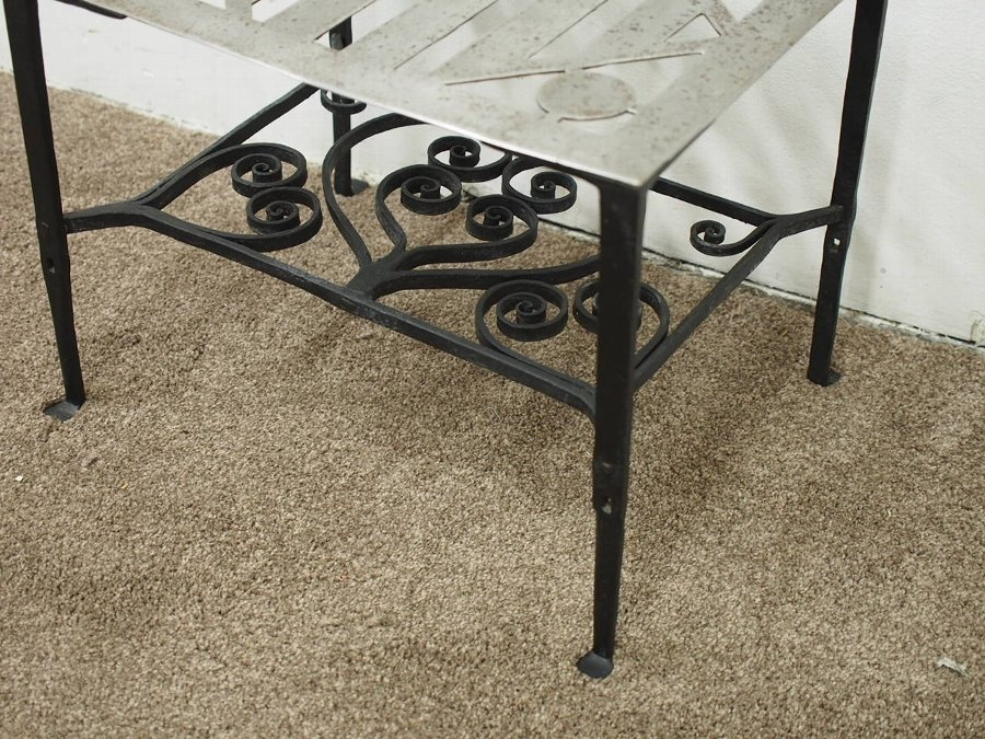 Antique George III Steel and Iron Trivet