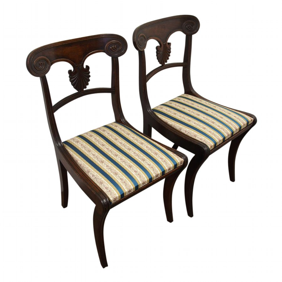 Pair of Scottish Mahogany Dining Chairs