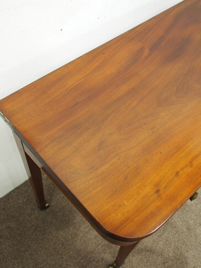 Antique Scottish Mahogany Foldover Tea Table