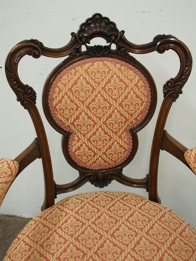 Antique Carved Mahogany Louis XVI Parlour Chair