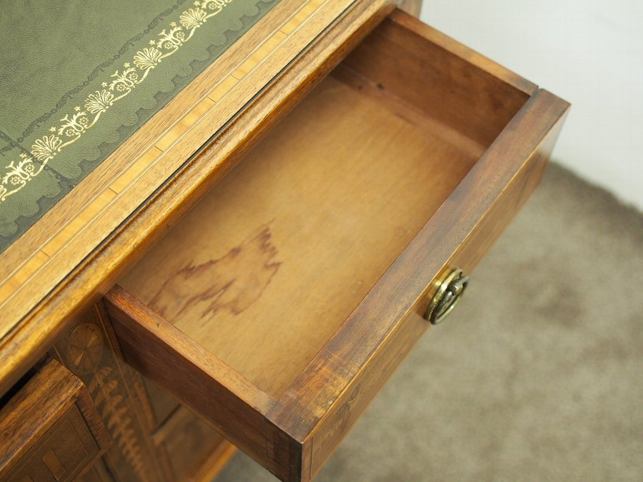 Antique Sheraton Style Inlaid Writing Desk by Edward and Roberts