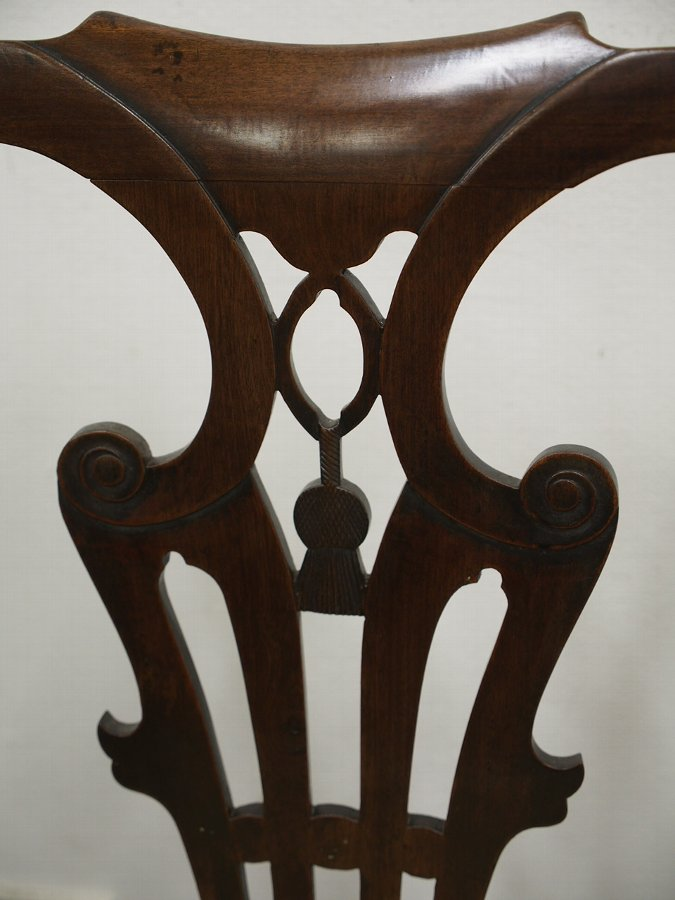 Antique Pair of Scottish George III Mahogany Dining Chairs