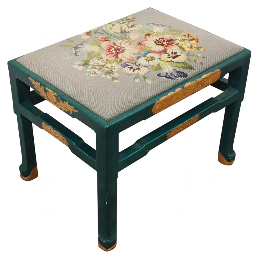 Chinoiserie Stool by Whytock and Reid