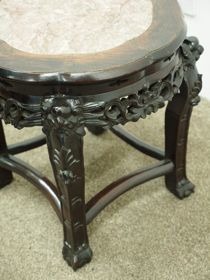 Antique Chinese Darkwood Plant Stand