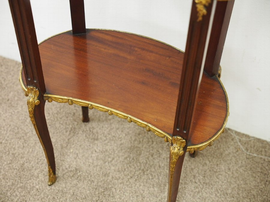 Antique Louis IV Style Kidney Shaped Occasional Table