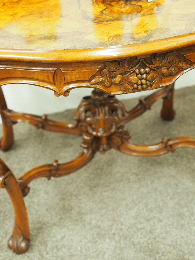 Antique French Victorian Walnut Centre Table