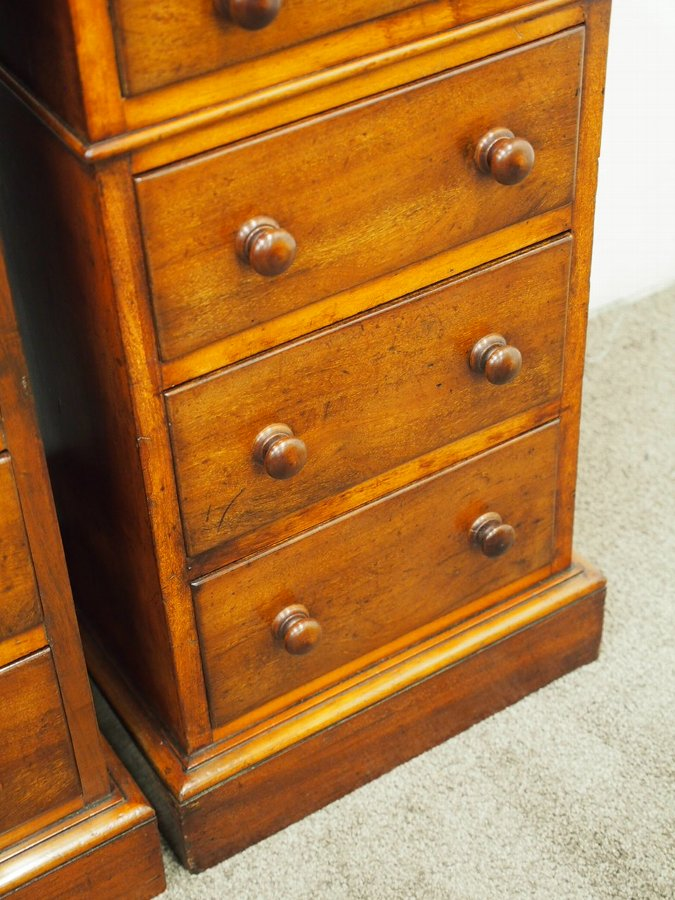 Antique  Pair of Neat Victorian Mahogany Chest of Drawers or Bedsides