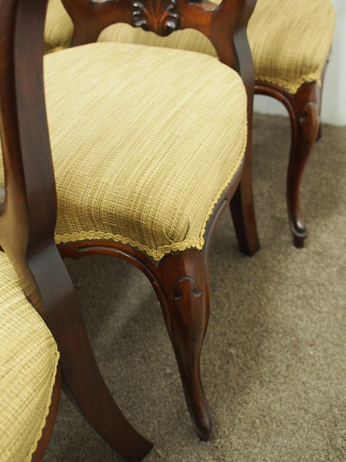 Antique Set of 12 Victorian Mahogany Dining Chairs