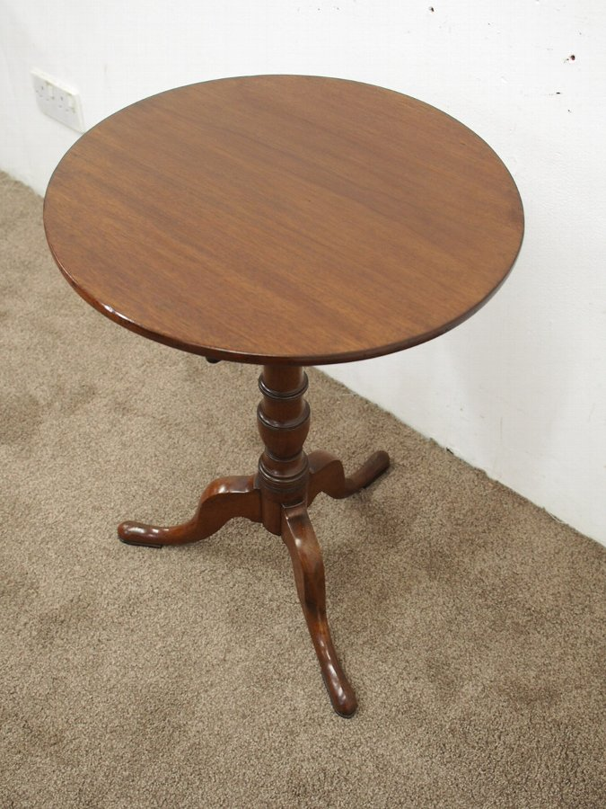 Antique George III Mahogany Snap Top Occasional Table