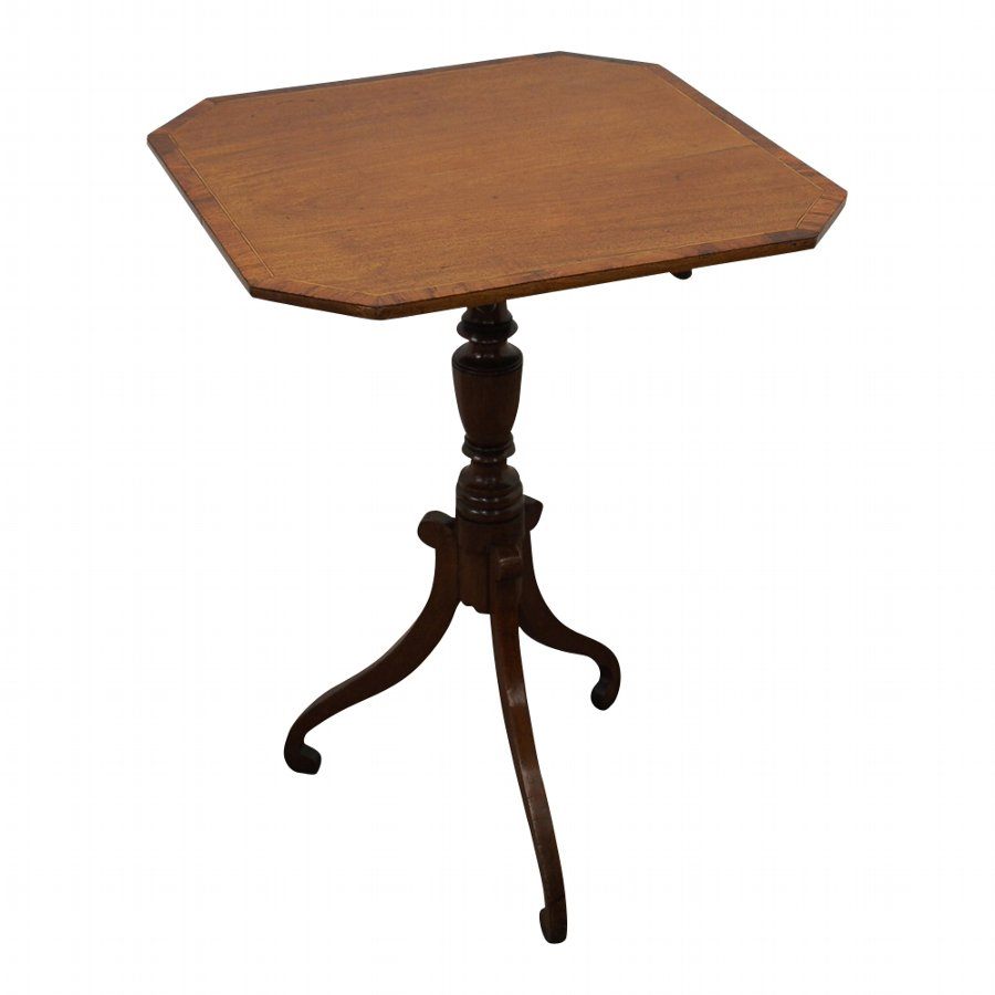 George III Inlaid Snap Top Occasional Table