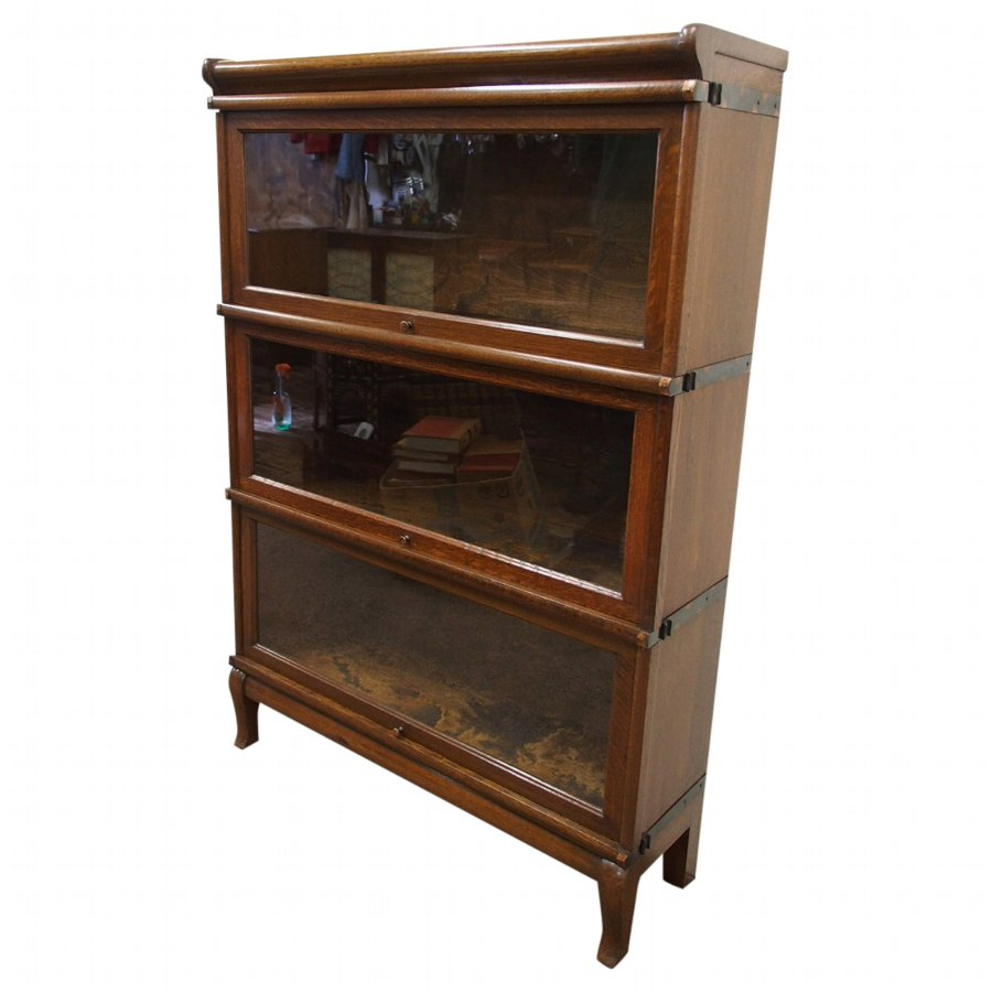 Neat Size 3 Section Bookcase